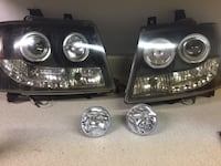 For Chevy/2007-2012 Used Led lights set. Working fine some of the lower bulbs are out but the high beam and low beam work great Randallstown, 21133