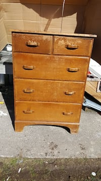 Solid older woodwork dresser ,top drawer cracked  Newtown, 06470
