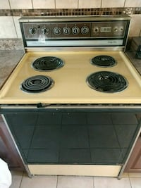 brown and white electric coil range oven Islip Terrace, 11752