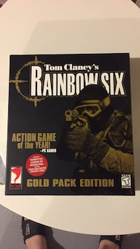 Tom clancy's rainbow six gold pack edition box