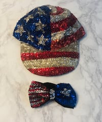 4th of July Hat and Bow tie