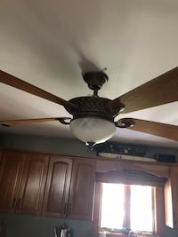 brown 5-blade ceiling fan New York, 10306