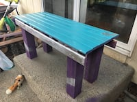 blue purple and gray wooden bench 2321 mi