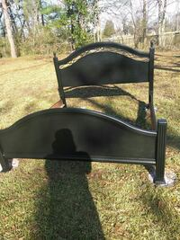 black wooden bed headboard and footboard Stone Mountain, 30083