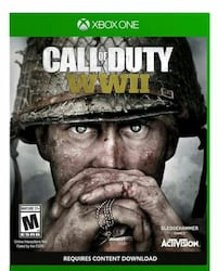 Call of Duty WWII and NBA2K 20 Xbox One game case