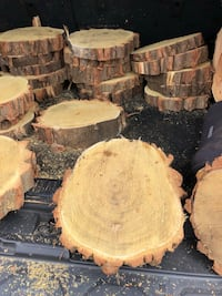"Black Locust 2"" thick x 12"" round slabs. 22 pieces available. Perfect for table centerpieces. Very cool Middle Island, 11953"