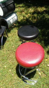 red and black leather padded bar stools Laurel, 20707