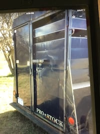 Black and gray commercial refrigerator Grass Lake, 49240