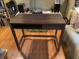 Small Wooden Desk with single drawer and cubby