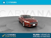 2014 *Ford* *Fusion* Titanium Sedan 4D sedan Red Charlotte