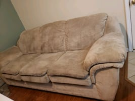 Microfiber tan color couch