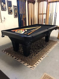Classy 7' Pool Table - Brand New Felt - Can Deliver !