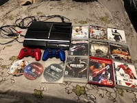PS3, 2 controllers(red,blue), 12 of the most entertaining games Vaughan, L4L 1S2