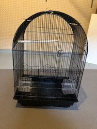 "Black bird cage  18""w x 26""H opens on top as well 548 km"