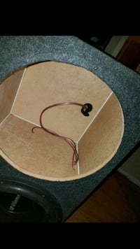 """Subwoofer box for 3 with 2 15"""" inside  Charlotte, 28216"""