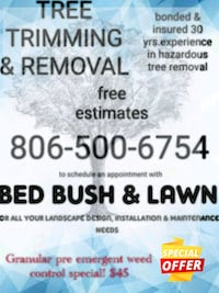 Tree trimming and removal Lubbock, 79413