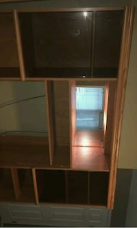 brown wooden cabinet with mirror Edmonton, T6L 2T1