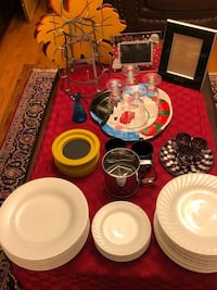 Dishes, 41 pieces white plates and cups,& more Aurora, 60504