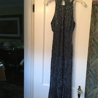 Steel grey beaded gown Chevy Chase, 20815