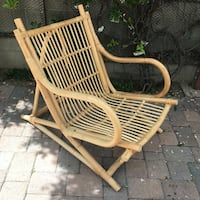Mid Century Franco Albini Bamboo Lounge Chair  Los Angeles, 90019