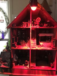 Red and black wooden dollhouse Gaithersburg, 20879