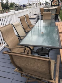 2 glass table patio set with chairs  North Baldwin, 11510