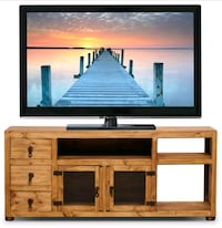 Solid pine TV stand - Moving Sale $400 OBO!!  Toronto, M5A 1M6