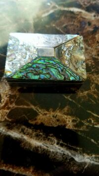 Mexican sterling silver box with mother of pearl  Pico Rivera