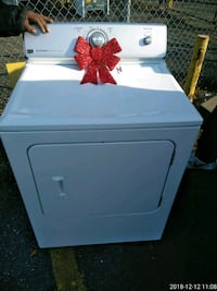 white front-load clothes dryer Clinton, 20735