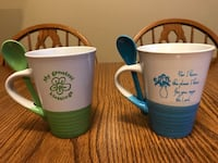 NEW 2 coffee cups with matching spoons Salem, 24153
