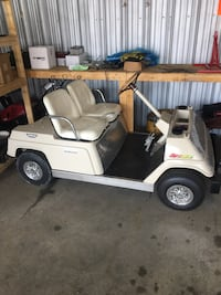 1981 Yamaha gas golf cart. Was electric, converted over to an 18hp Duromax gas engine with electric start. Live axle with a torque converter and chain and sprocket. Would work great for camping or around the property. 1 gal gas tank. Onboard battery charg Leesburg, 20175