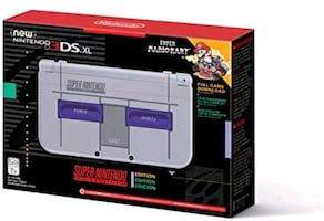 Super Nintendo edition New 3ds include hacked cartridge