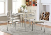 Small Dining Set (5pcs) or Breakfast Nook Table + 4 chairs Colors
