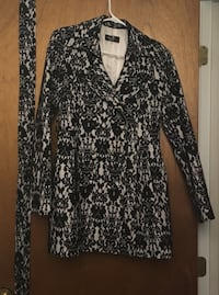 Black and white lace trench coat from Korea - size small