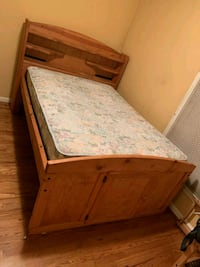 Full size bed and mattress  67 km