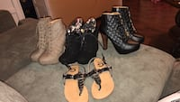 Pairs of women's assorted shoes