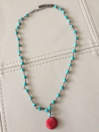 Turquoise Necklace with Rose Pendant Gaithersburg, 20878