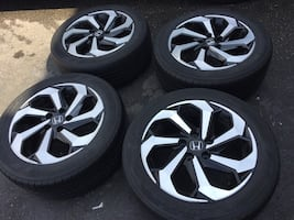 4 tires and rims for Honda Civic 2016 and fit2018 all season tires and 2 tires continental and 2 tires Goodyear