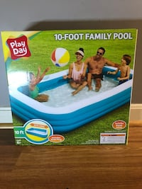 New Play Day 10 foot family pool (120in. x 72 in. x 22 in.) Fairfax, 22031