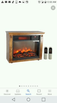 brown and black electric fireplace Knoxville, 37912