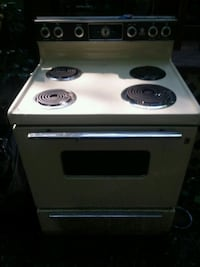 white and black electric coil range oven Midlothian, 23112