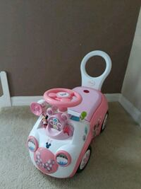 toddler's white and pink Minnie Mouse ride-on toy Riverview