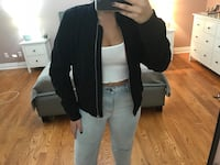 Black bomber jacket size medium  Toronto, M6A 2P9