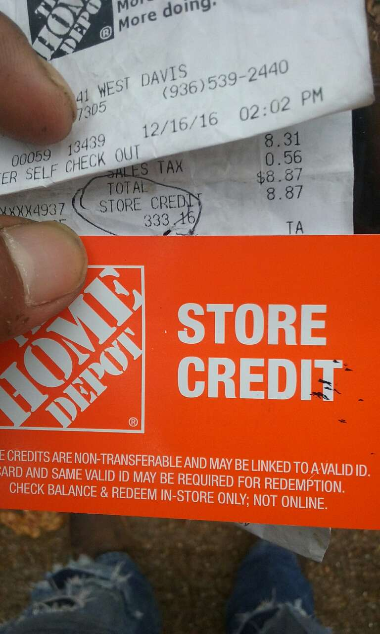 Letgo the home depot store cred in panorama village tx for 0 home depot credit card