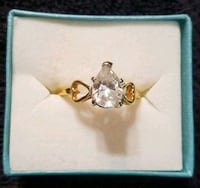 VINTAGE 14kt Gold Plated Ring wTEAR drop Stone Hopewell Junction, 12533