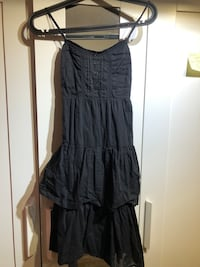 Black summer skater dress