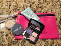 Clinique face powder never used , Lancome color design sensation eye shadow used a little bit , Estee Lauder Daywear spf 15 used a little bit  | pick up Marda loop sw | leaving Canada soon Calgary, T2T 6K7