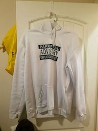 white and black pullover hoodie 2283 mi