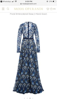 blue and white floral long sleeve dress Ajax, L1T 3H6