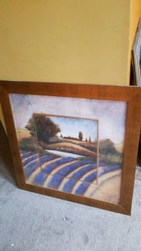 brown wooden framed painting of house Arlington Heights, 60004